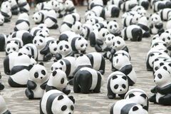 1600 Pandas World Tour in Hong Kong. 1600 Pandas has landed Hong Kong. This world tour was launched in 2008 by WWF and acclaimed French artist Paulo Grangeon Stock Images