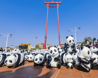 Pandas. World Tour in Thailand Stock Images