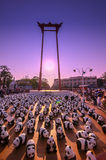 1600 Pandas World Tour by WWF at Giant Swing, Bangkok. BANGKOK,THAILAND-MAR 13:1600 Pandas World Tour by WWF at Giant Swing, Bangkok on March 13, 2016. These Royalty Free Stock Photography