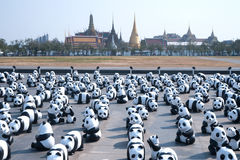 Pandas World Tour by WWF at Giant Swing, Bangkok Stock Image