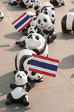 Pandas World Tour by WWF at Giant Swing, Bangkok Royalty Free Stock Image