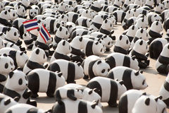 Pandas World Tour by WWF at Giant Swing, Bangkok Stock Photo