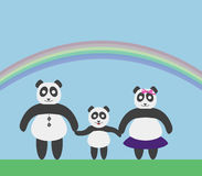 PandasFamily Photo libre de droits