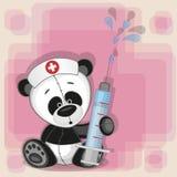 Pandasjuksköterska royaltyfri illustrationer