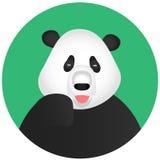 Pandasymbolsmobil app Arkivfoton