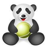 Pandatennisball Lizenzfreie Stockbilder