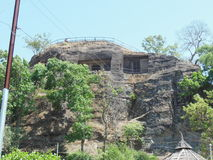 Pandav Caves 1. The Pandav Caves which became home for the Pandavas actually could boast of bedrooms and gardens. Multiple caves led the believers to believe Stock Image