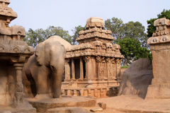 Pandava Rathas , Mamallapuram Royalty Free Stock Images