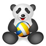Pandavolleybollboll Arkivfoto