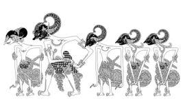 Pandawa иллюстрация вектора