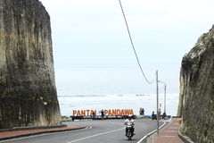 Pandawa-Strand, Bali, Indonesien Stockbild