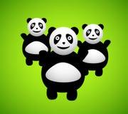 Pandazeichentrickfilm-figur Lizenzfreie Stockfotografie