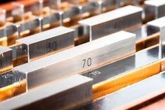 Pandblok voor kaliberbepalingsdimensie materiaal Stock Fotografie