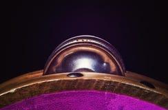 Pandeiro de madeira no estúdio Fotos de Stock Royalty Free