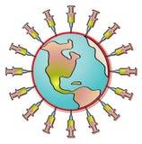 Pandemia royalty-vrije illustratie