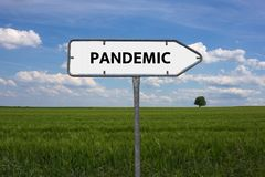 PANDEMIC - image with words associated with the topic EPIDEMIC, word cloud, cube, letter, image, illustration. PANDEMIC - image with words associated with the Stock Photos