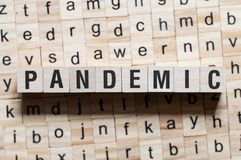 Pandemic word concept royalty free stock image