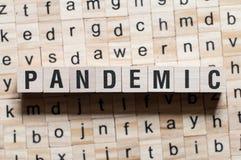 Pandemiskt ordbegrepp royaltyfri bild