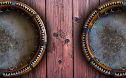 Pandereta asiática central Doira del Uzbek El doira tradicional del instrumento musical del uzbek Foto de archivo