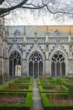 Pandhof в Utrecht, Нидерланды, средневековый монастырь с Стоковая Фотография