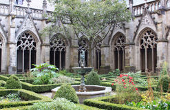 The Pandhof garden of Dom Church, Utrecht, Holland Royalty Free Stock Photo