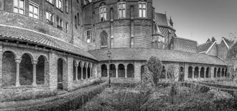Pandhof St. Marie. Cloister in Utrecht, Netherlands Royalty Free Stock Photo