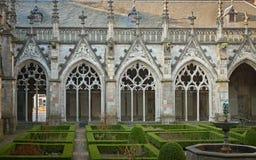 Pandhofen i Utrecht, Nederländerna, är en medeltida kloster med Arkivfoton