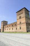 Pandino, castle Stock Photo