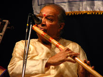 Pandit Hariprasad Chaurasia. The legendary Indian flautist Pandit Hariprasad Chaurasia Royalty Free Stock Images