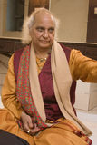 PANDIT JASRAJ. Is one of India's premier classical vocalists and the foremost exponent of Mewati Gharana. Recipient of Padma Bhushan, Surer Guru , Sangeet Stock Image