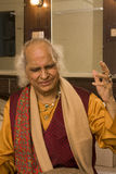 PANDIT JASRAJ. Is one of India's premier classical vocalists and the foremost exponent of Mewati Gharana. Recipient of Padma Bhushan, Surer Guru , Sangeet Stock Photography