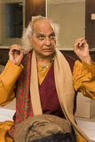 PANDIT JASRAJ. Is one of India's premier classical vocalists and the foremost exponent of Mewati Gharana. Recipient of Padma Bhushan, Surer Guru , Sangeet Stock Images