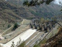 Pandoh dam to generate hydroelectric power. Pandoh dam on Beas river in Himachal Pradesh royalty free stock photo