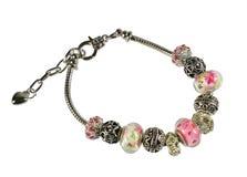 Pandora bracelet  isolated on white background Stock Photo