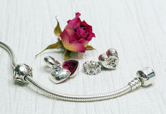 Pandora Bracelet jewelry Royalty Free Stock Photos