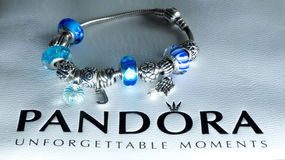 Pandora famous jewellery Royalty Free Stock Photo