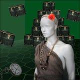 Pandora with her boxes II Stock Image
