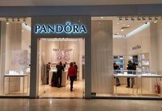 3c77e313f Pandora Jewelry shop at mall. AFI Palace Cotroceni, Bucharest, Romania  royalty free stock