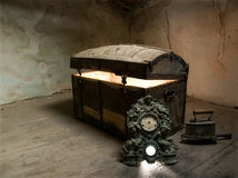 Pandora's box. Timeless view of  the curiosity which lies at the bottom of the box Royalty Free Stock Photography