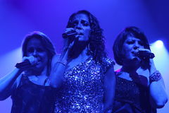 Pandora Singers. Pandora, mexican singers trios, performance, fernanda meade, isabel lascurain and mayte lascurain Royalty Free Stock Images