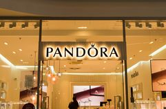 f4ac3960b Pandora store front. ZLIN, CZECH REPUBLIC - APRIL 27, 2019: Pandora store