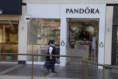 PANDORA  STORE Stock Image