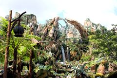 Pandora - The World of Avatar at Walt Disney World. The new land, Pandora - The World of Avatar, at Walt Disney World is full of alien life at every corner royalty free stock images