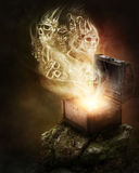 Pandoras box. And scull smoke Stock Photo