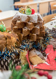 Pandoro圣诞树 图库摄影
