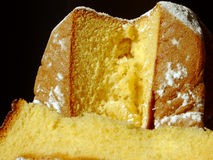 Pandoro. Traditional italian Christmas cake Pandoro Stock Photos