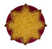 Pandoro - bolo tradicional de Chistmas do italiano, pão Estrela dada fôrma Imagem de Stock