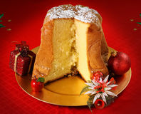 Pandoro christmas cake Stock Photo