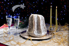 Pandoro Christmas cake royalty free stock images