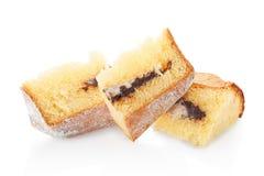 Pandoro, Christmas cake portions with icing sugar and chocolate Stock Photography